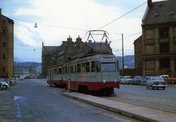 Ekebergbanen ved Vognmannsgata 27. august 1962. --Motorvogn