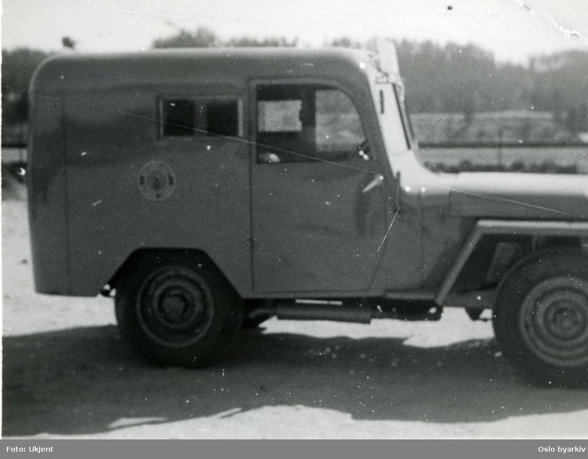 Jeep med karosseri fra Høka. Vanlig ombygging. Produsert ved HøKa A/S.