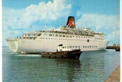 Danskebåten, M/S Dana Regina, rederiet DFDS SEAWAYS, buksere