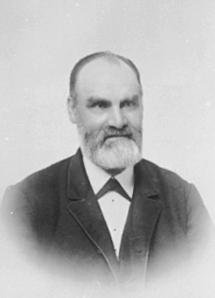 PORTRETT: PEDER LINDHOLT ROGSTAD 1833 - 1918, LINDHOLTDUBL: 414-2399.
