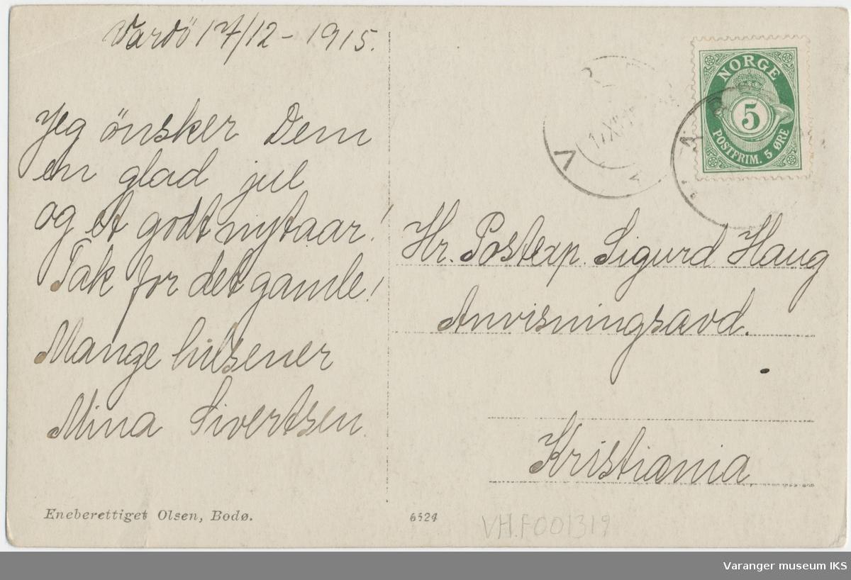 Postkort, Strandgata sett mot sør