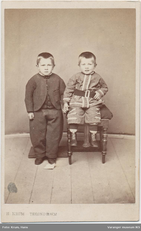 Dobbeltportrett, Andreas og Einar Brodtkorb, 1867