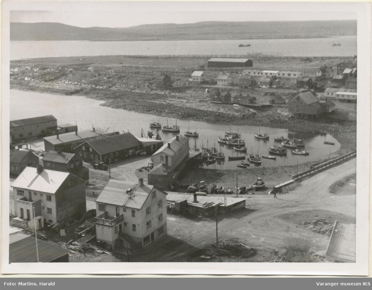 Søndre Våg og Steilneset, sett fra kirketårnet, 6. september 1956
