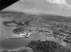 Rieber & Søns fabrikk Levanger flyfoto