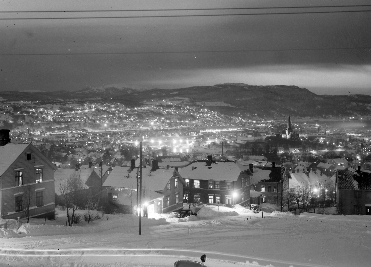 Utsikt over Trondheim fra Blussuvoll