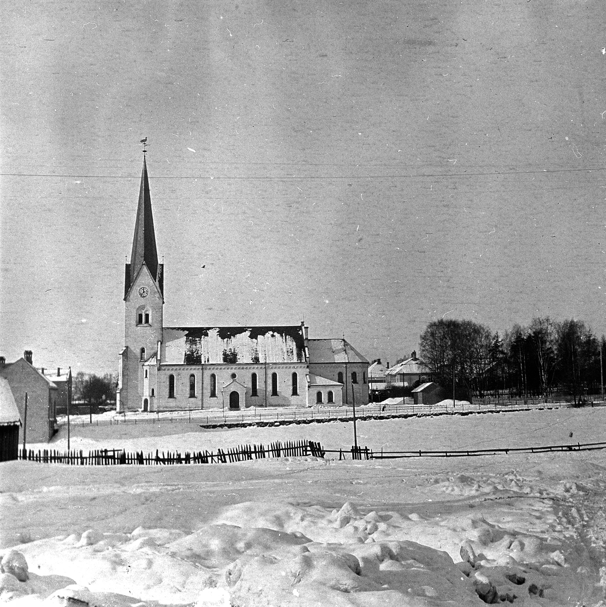 HAMAR DOMKIRKE, VINTER, HOLSETGATA. 1920-1925
