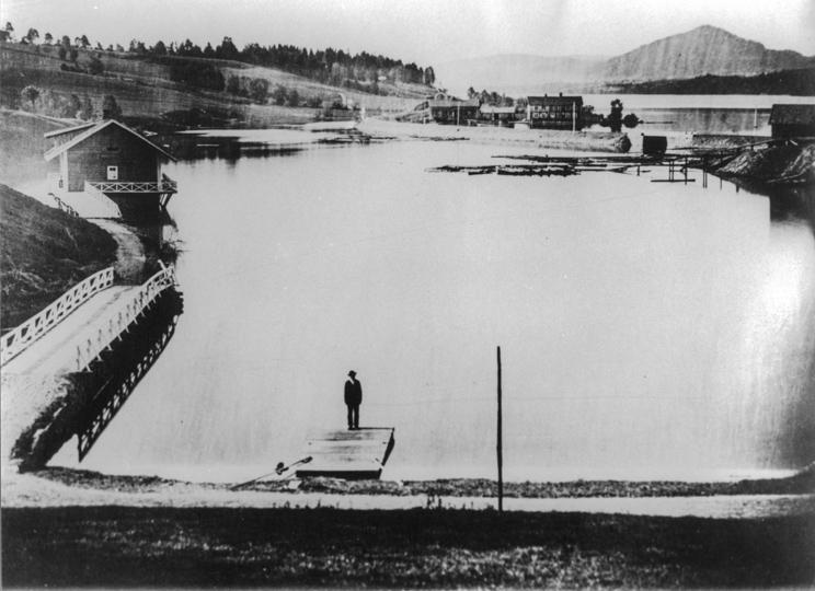 Området ved Eidsvoll stasjon.