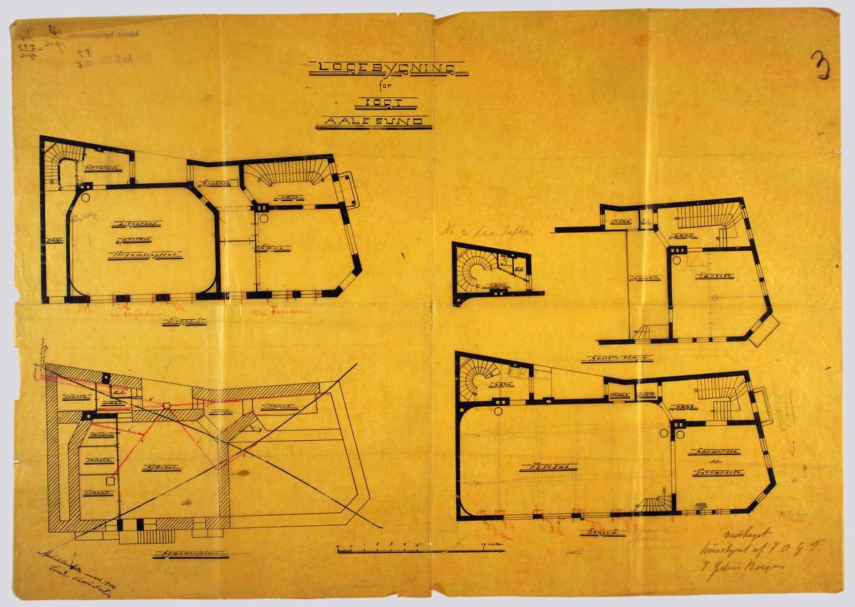 Logebygning for IOGT Aalesund [Arbeidstegning]