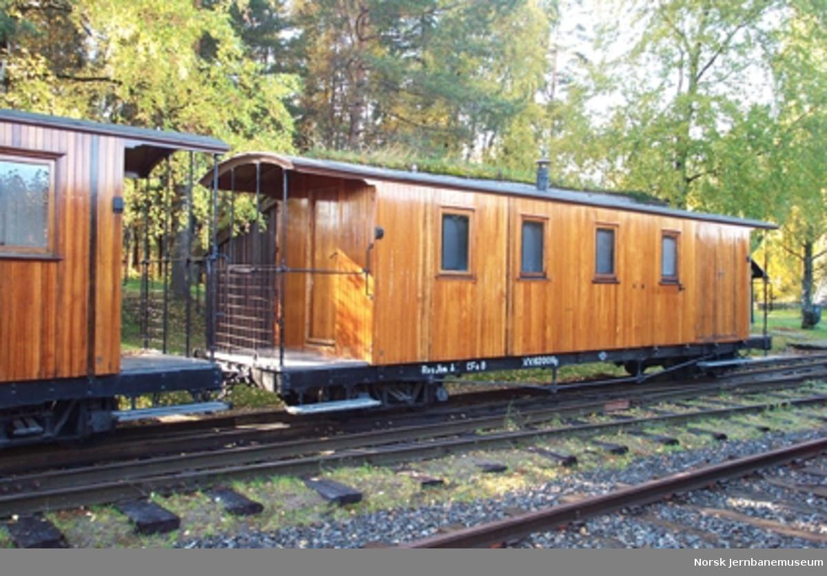 Personvogn litra CFo nr. 8 fra Aurskog-Hølandbanen, opprinnelig bygget for Nesttun-Osbanen