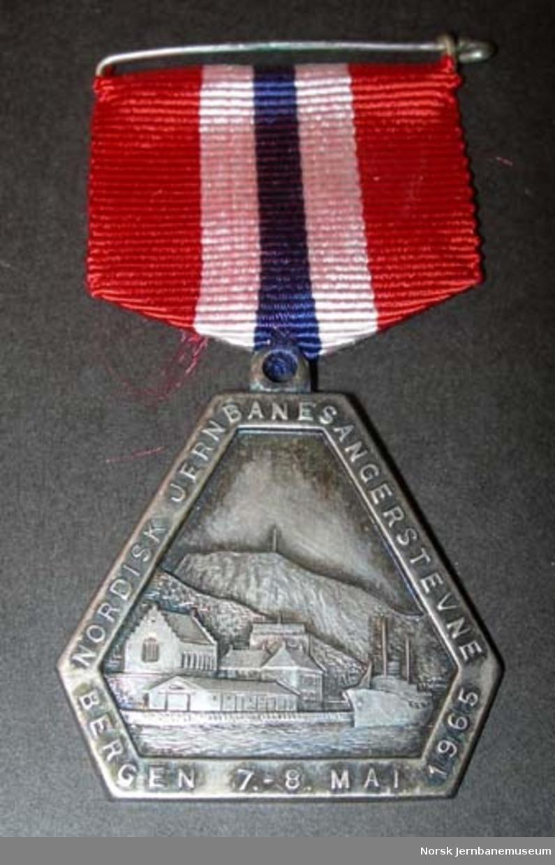 Medalje - stevnemedalje fra Nordisk Jernbanesangerstevne 1965