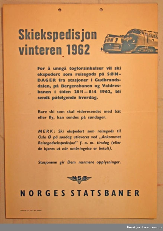 """Oppslag : """"Skiekspedisjon vinteren 1962"""""""
