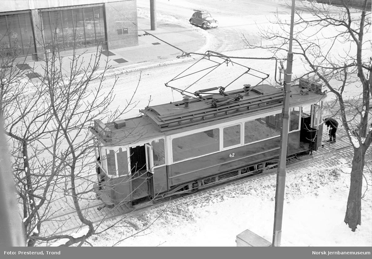 Trondheim sporveier sporvogn nr. 42