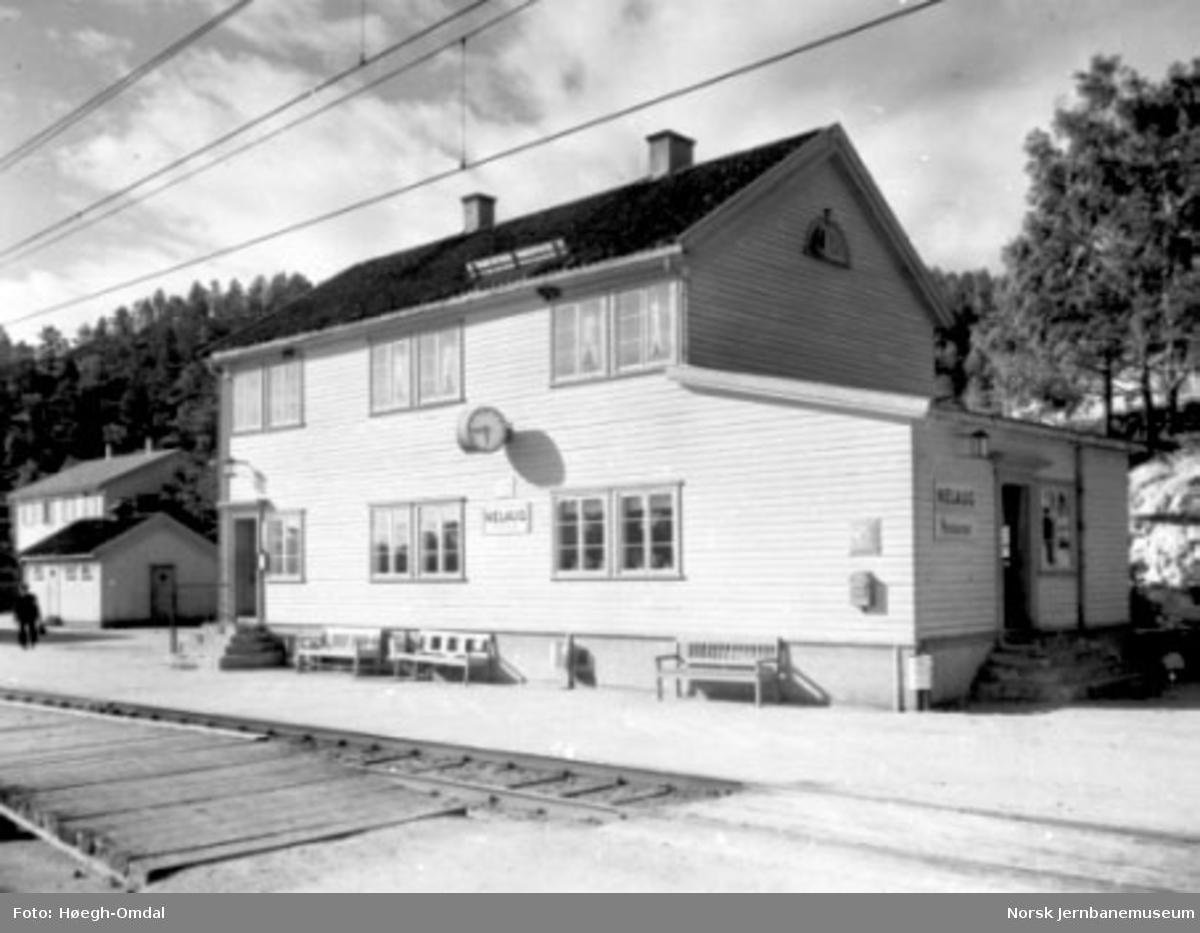 Stasjonsbygningen på Nelaug