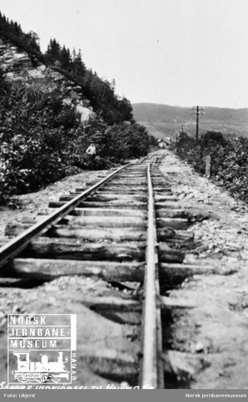 Hovin stasjon : sporet ved søndre innkjøring til stasjonen etter flommen