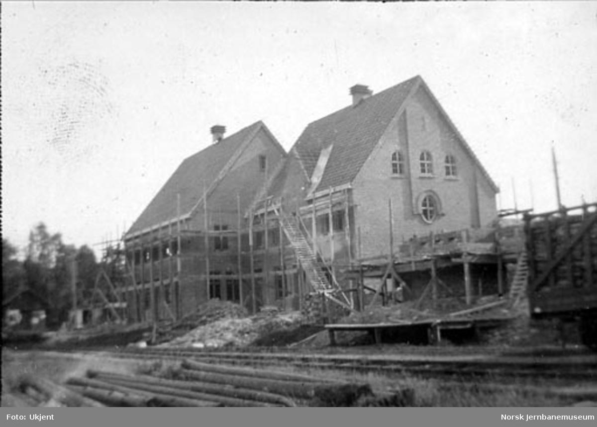 Tønsberg stasjon : ny stasjonsbygning under oppføring