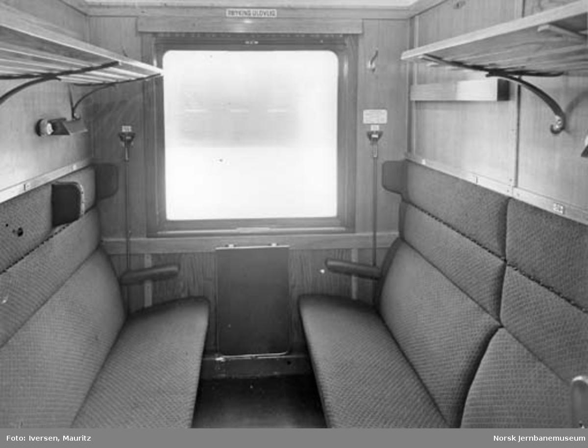 Interiørbilde fra personvogn litra Co2d (B10)