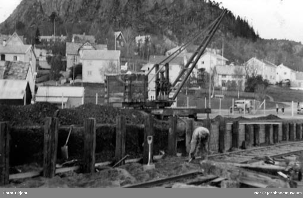 Namsos stasjon : reparasjon av godsrampa
