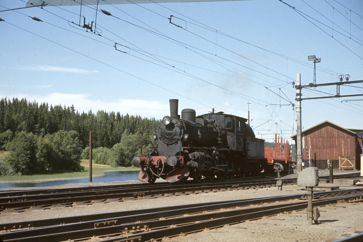 Skifting med damplokomotiv på Eina stasjon