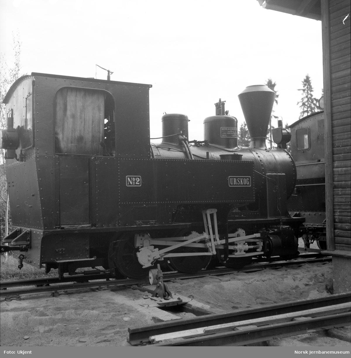"Damplokomotivet ""Urskog""  fra Auskog-Hølandsbanen på Jernbanemuseum"
