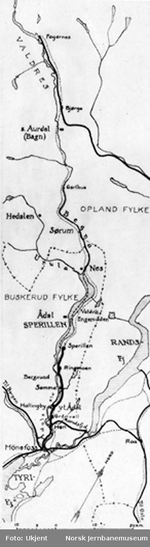 Kart over Sperillbanen