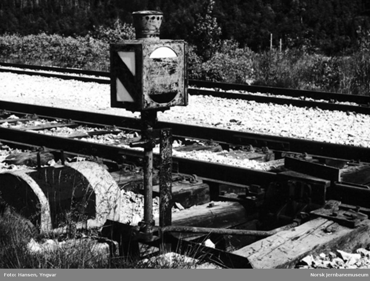 Sporsperre på Kvalfors stasjon