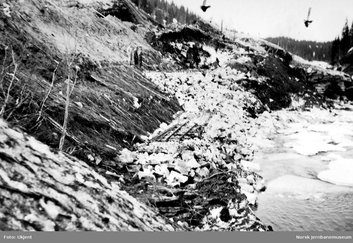 Påbegynt steinfylling nord for Bjørnhei