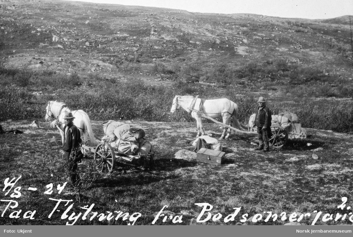 Jernbanestikking i Finnmark : på flytting fra Bodsomer javrre - Uhca Sopmir