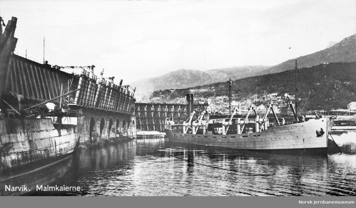 LKABs anlegg i Narvik : malmkaiene