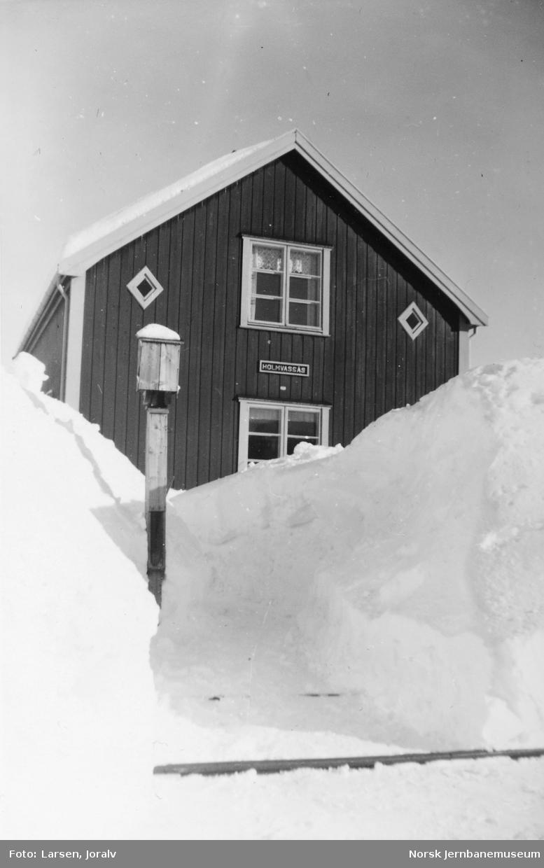 Ekspedisjons-/vokterboligen på Holmvassås holdeplass
