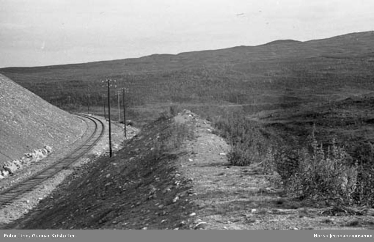 Nordlandsbaneanlegget : linjeparti ved Randalsvoll