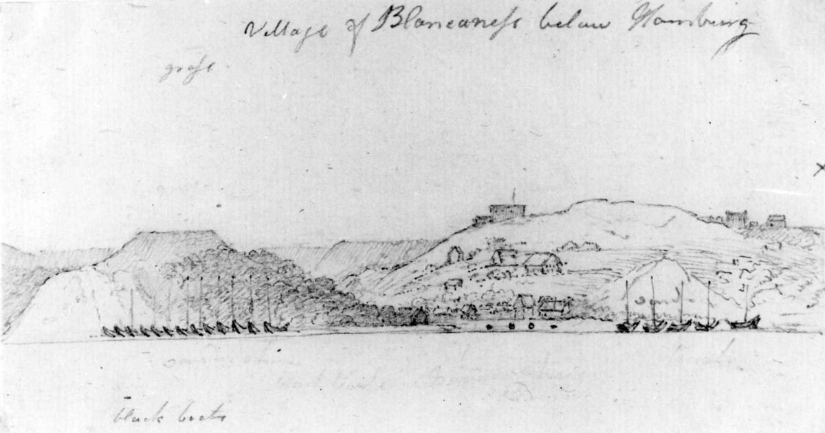 "Schleswig-HolsteinFra skissealbum av John W. Edy, ""Drawings Norway 1800""."