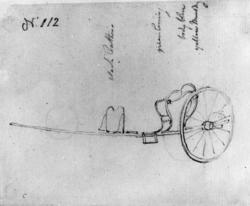 """KarjolFra skissealbum av John W. Edy, """"Drawings Norway 1800"""