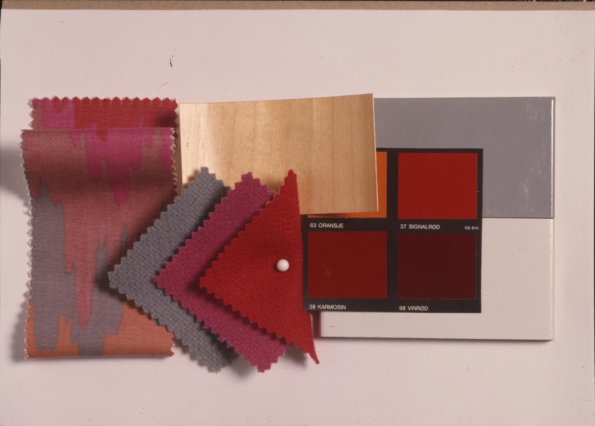 Fargeprøver, forslag til fornyelse. Illustrasjonsbilde fra Nye Bonytt 1989.