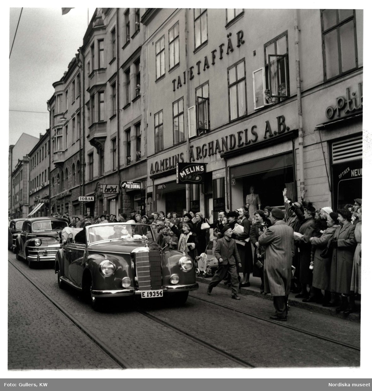 Gustav VI Adolfs Eriksgata i Norrköping, 1953