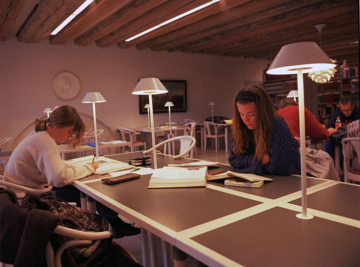 Konstvetenskapliga institutionens bibliotek och läsesal i Uppsala slott, Uppsala 1995