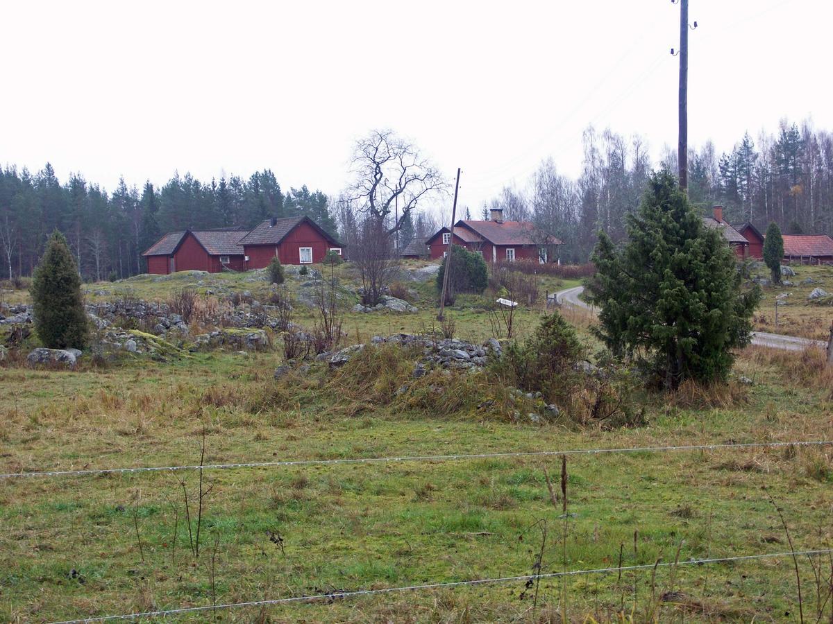 Gårdsbebyggelse från väst, Risön, Österlövsta socken, Uppland 2008