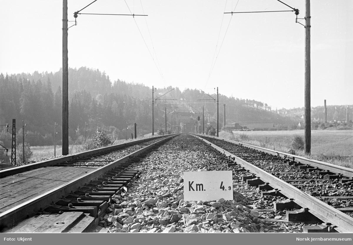 Hovedbanen : linjeføring km 4,9