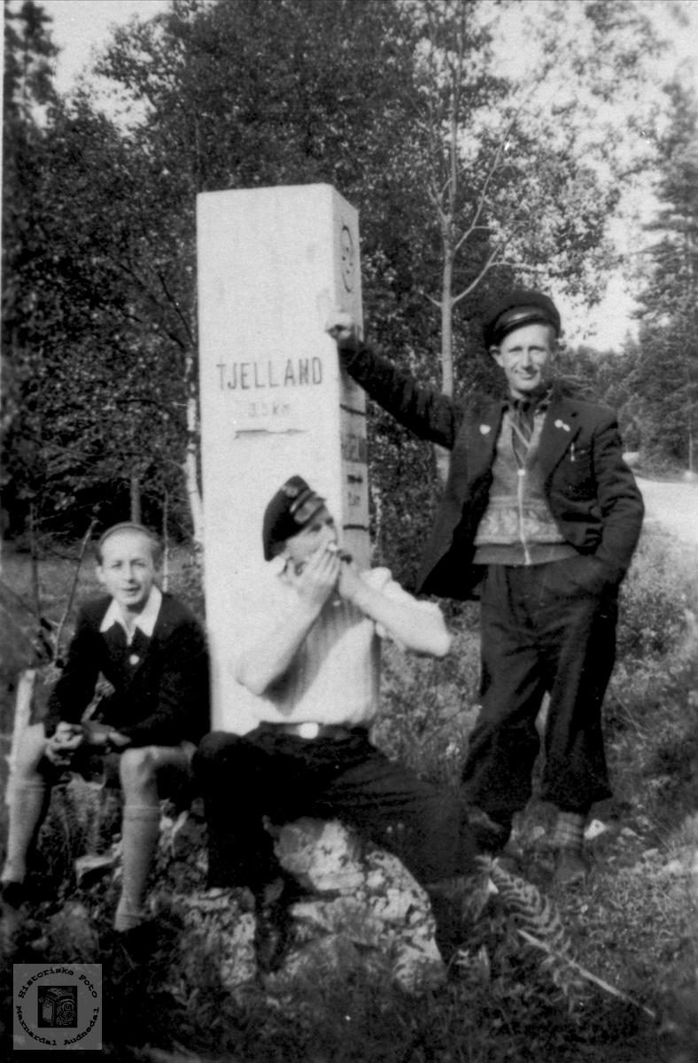 Vegmerke på Sølvskar, Bjelland.