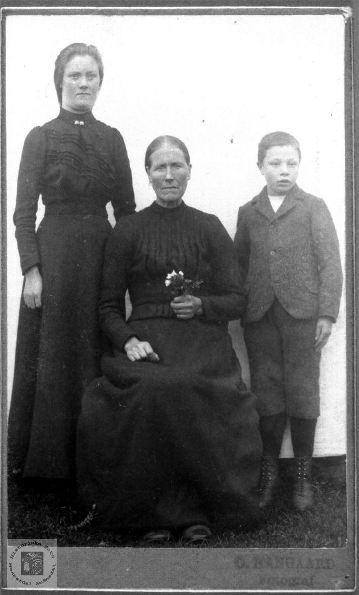 Portrett av familien Ågset, Laudal.