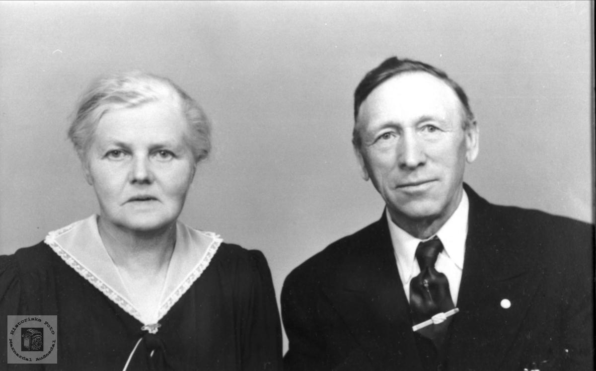 Ektepar.Anna og Theodor Lindland. Laudal.