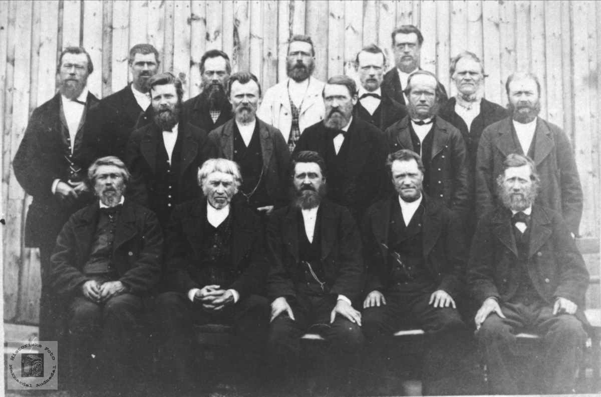 Heradstyre (møte) Øyslebø- Laudal ca 1880.