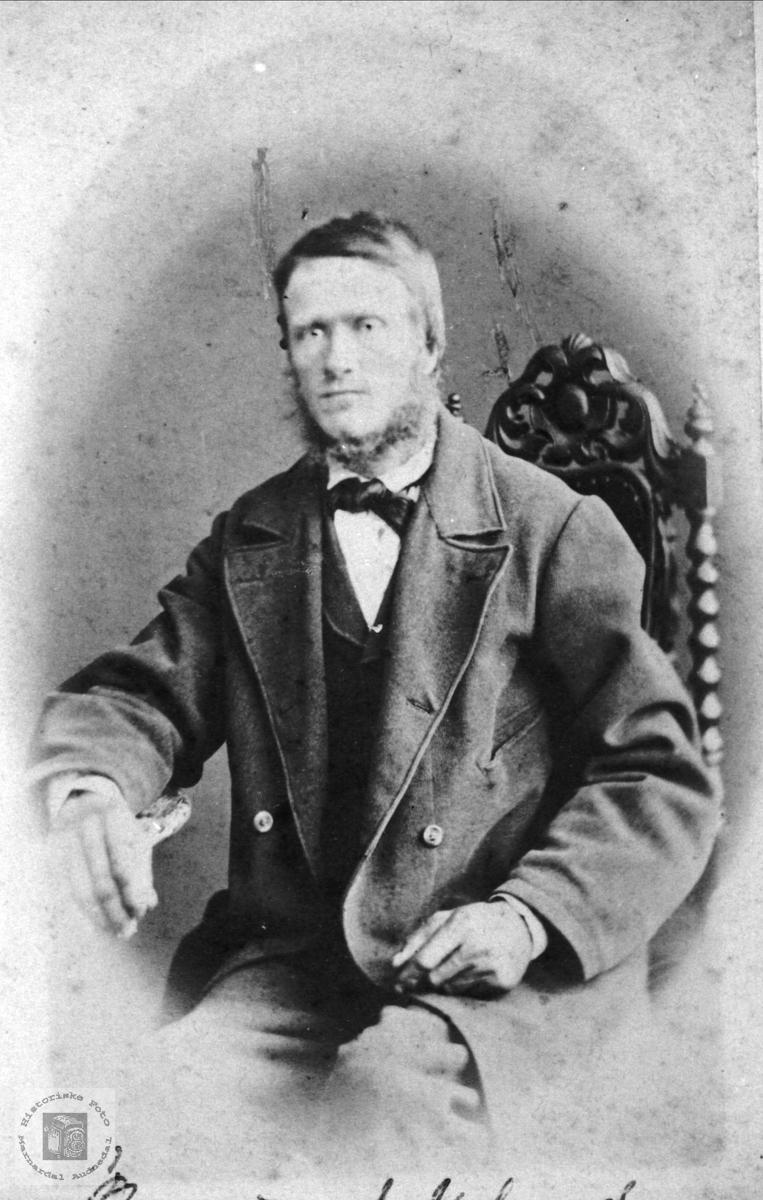 Portrett av Osmund Knudson Usland, Øyslebø.