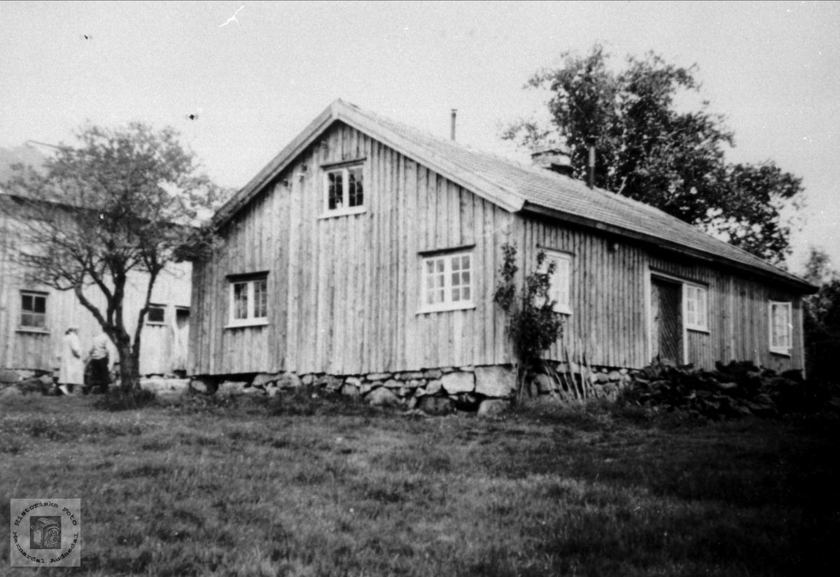 """Huset """"der aust"""" på Bjørnestøl i Øyslebø."""
