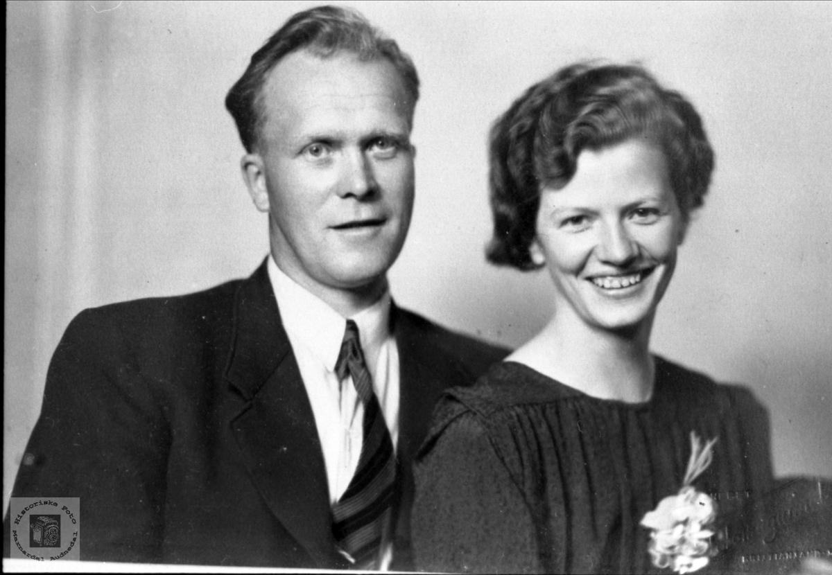 Ekteparet Syvert og Anna Holbek