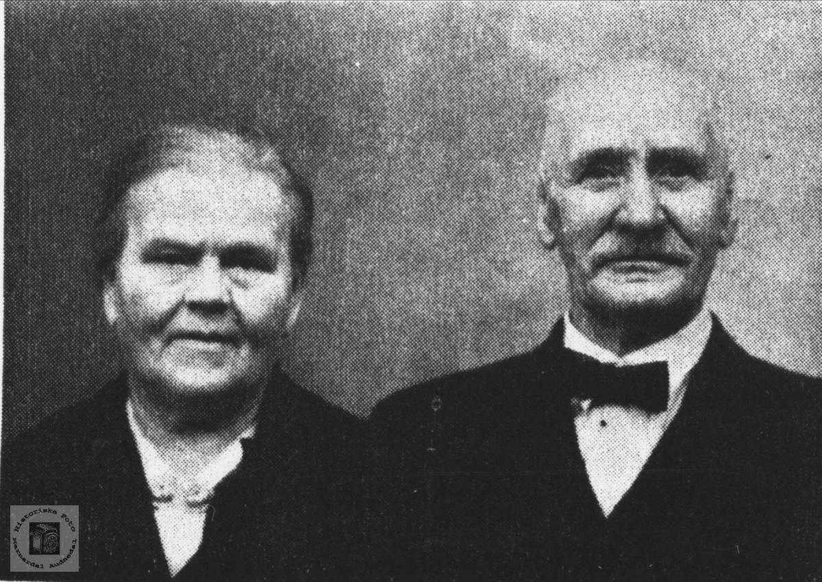 Ekteparet Anna og Aasuf Håverstad. Anna fra Roland i Bjelland.