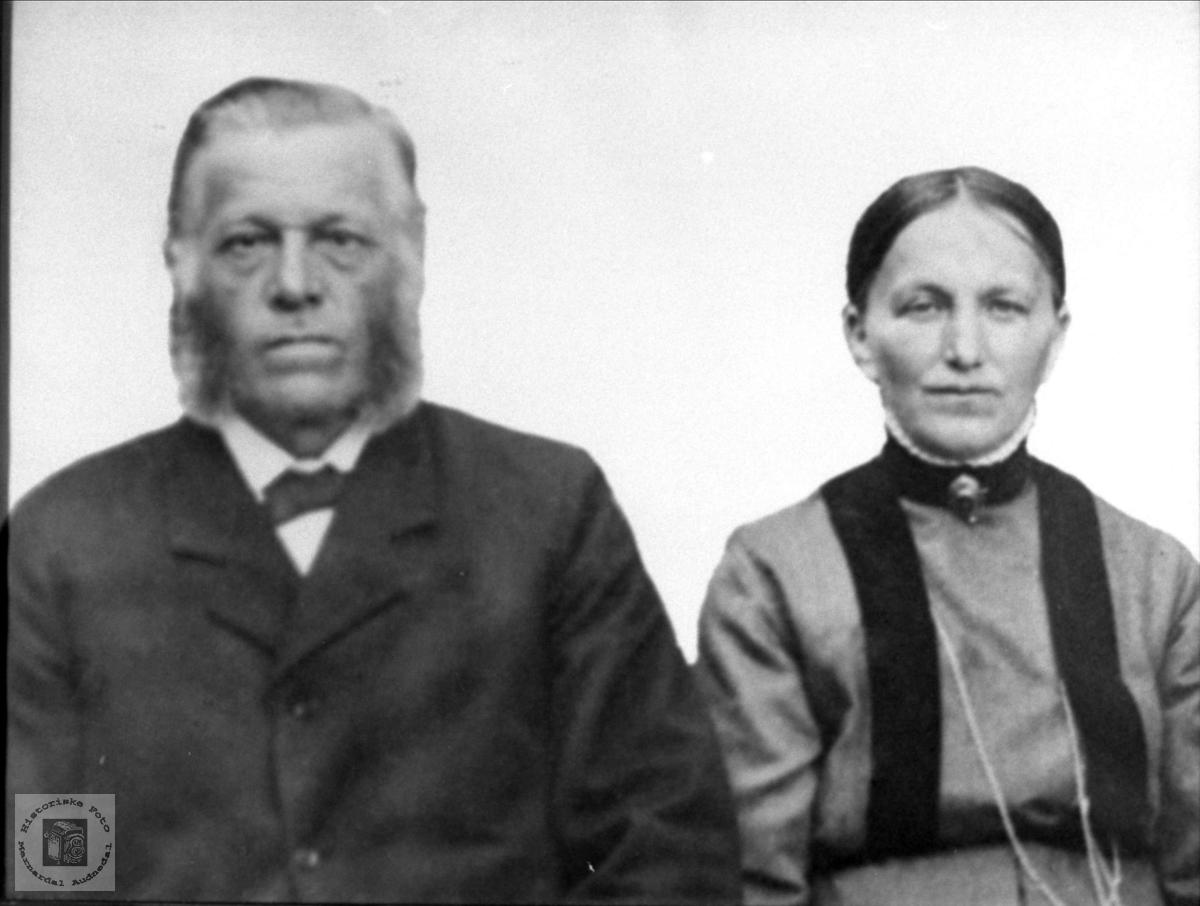 Ekteparet Ole Andreas og Asborg Birkeland, Øyslebø Songdalen.
