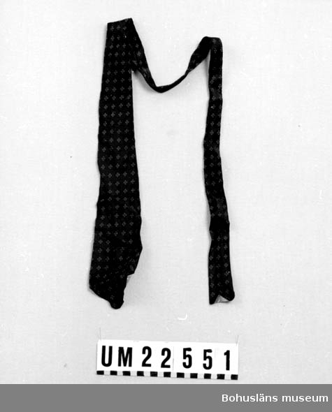 594 Landskap BOHUSLÄN  Slipsen är blå med små röda fyrkanter och vita prickar.  UMFF 120:2