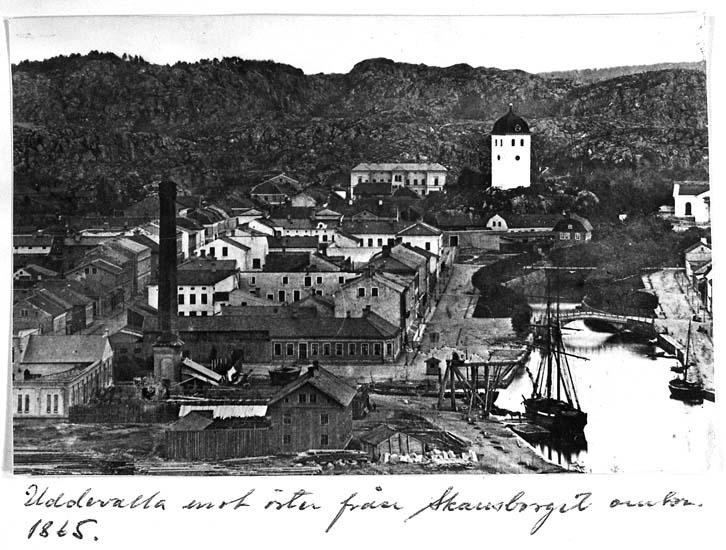 Uddevalla mot öster omkring 1865