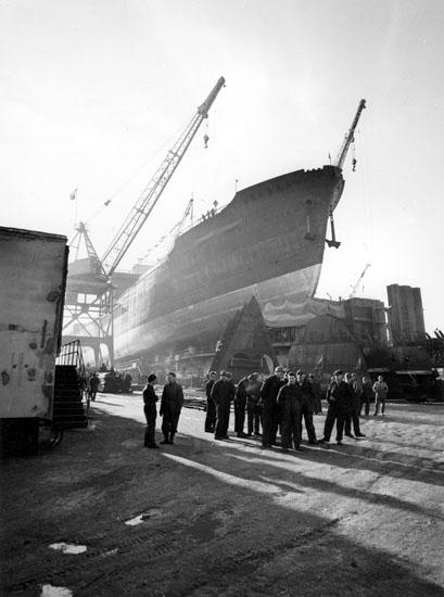Sjösättning av fartyg 125 M/S Point Lacre.