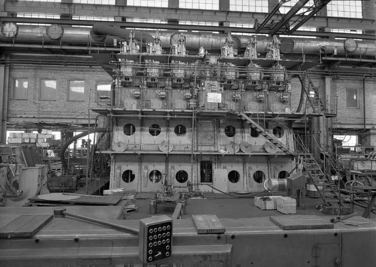 Huvudmaskin i maskinverkstaden.